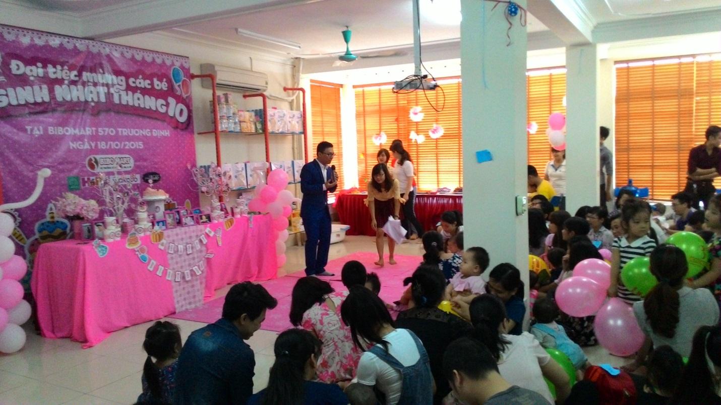 Trải nghiệm đại tiệc sinh nhật tháng 10 ý nghĩa tại Bibo Mart